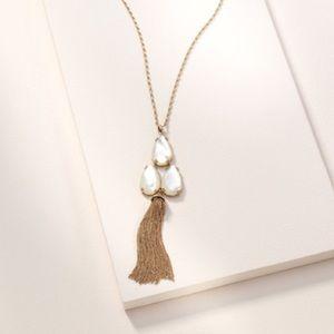 Stella & Dot Botanical Tassel Necklace
